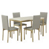 This item: Stacy Gray and Gold 37-Inch Dining Set with Marble Top